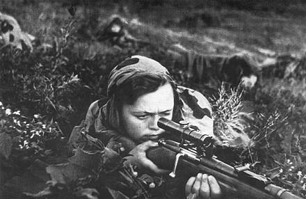 Utro.UA - Фото - Женщины-снайперы ВОВ.
