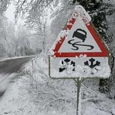 Украинских водителей предупредили о гололедице и шторме