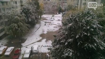 На западе Украины выпал первый снег